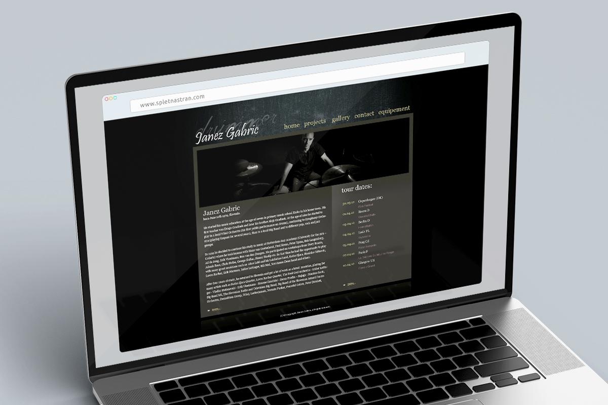 Janez Gabrič - Dizajn spletne strani