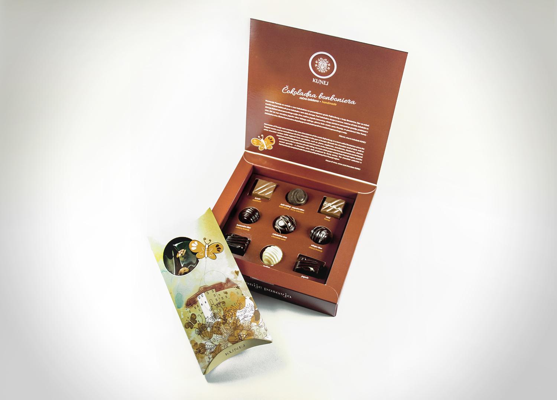 Kunej - embalaža za čokolado