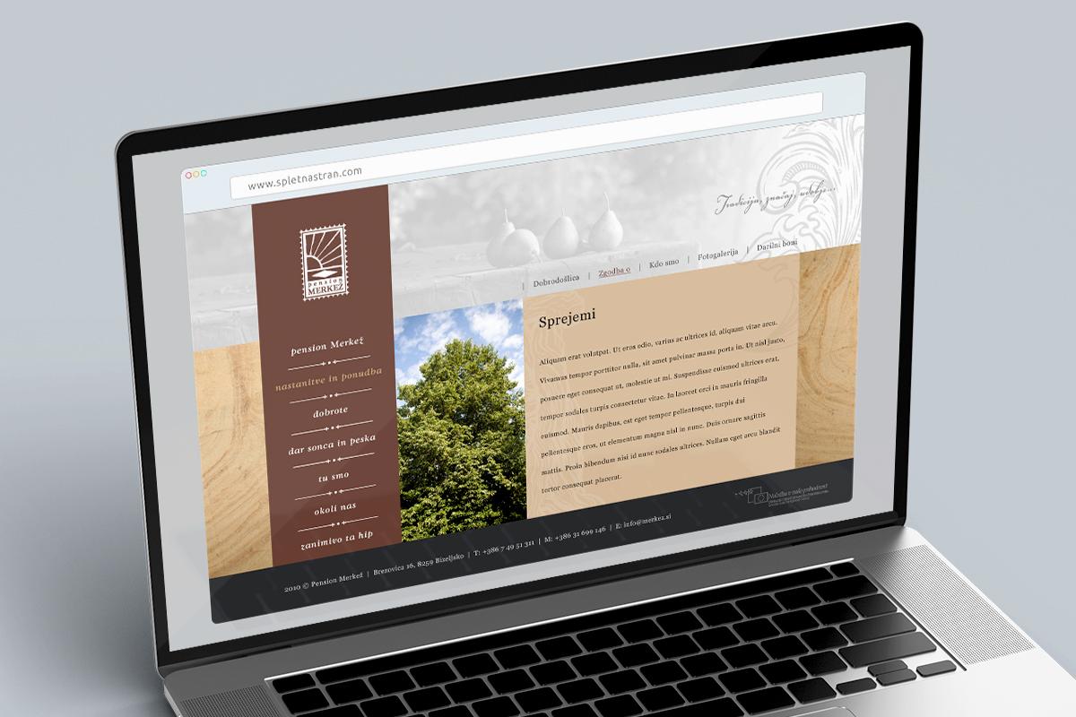 Merkež - Dizajn spletne strani