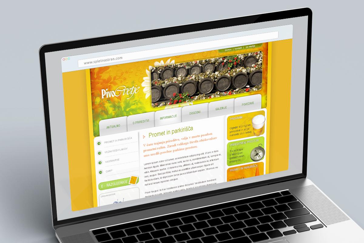 Pivo in cvetje - Dizajn spletne strani