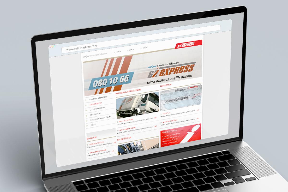 SŽ Express - Dizajn spletne strani