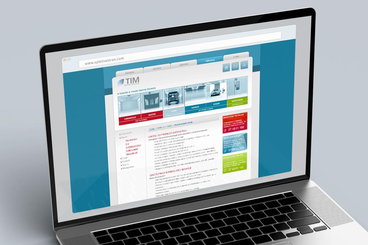 TIM Krško - Dizajn spletne strani